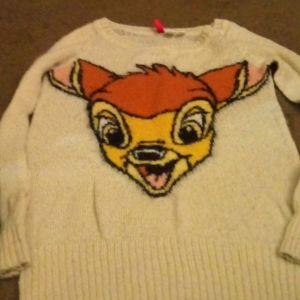 Vintage Disney Bambi sweater size 4